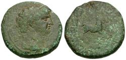 Ancient Coins - Claudius (AD 41-54). Seleucis and Pieria. Balanea as Leucas-Claudia Æ22 / Quadriga