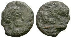 Ancient Coins - Sons of Constantine I the Great. Imitative Æ4 / Fallen Horseman