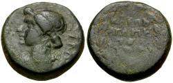 Ancient Coins - Julia Augusta (Livia) (died AD 14). Phrygia. Eumenia Æ14 / Wreath