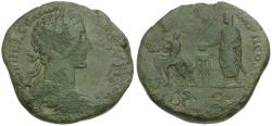 Ancient Coins - Commodus (AD 177-192) Æ Sestertius / Sacrificial Scene