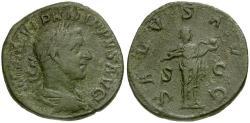 Ancient Coins - Philip I Æ Sestertius / Salus