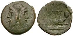 Ancient Coins - 90 BC - Roman Republic. Q. Titius Æ AS