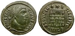 Ancient Coins - Constantine I the Great Æ Follis / Camp gate
