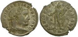 Ancient Coins - Diocletian (AD 284-305) Æ Follis / Genius
