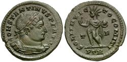 Ancient Coins - Constantine I the Great Æ Follis / Sol