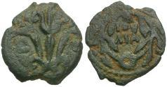 Ancient Coins - Judaea. Roman Procurators. Valerius Gratus (AD 15-26) Æ Prutah / Three Lilies