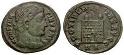Ancient Coins - Constantine I the Great Æ Follis / NA Campgate