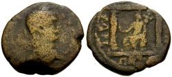 Ancient Coins - Caracalla, Syria, Decapolis, Petra Æ26 / Lindgren Plate Coin