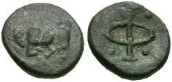 Ancient Coins - Phliasia. Phlious Æ Chalkous / Bull Butting
