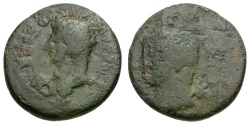 Ancient Coins - Tiberius.  Macedon. Edessa Æ22 / Portraits