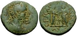 Ancient Coins - Septimius Severus, Syria, Heliopolis Æ25 / Caracalla and Geta