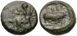 Ancient Coins - Attica. Eleusis Æ13 / Pig