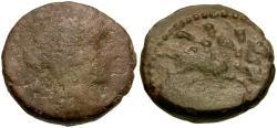 Ancient Coins - Sicily. Tyndaris Æ20 / Dioscuri on Horseback