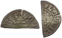 World Coins - Great Britain. Plantagenet Dynasty. Henry III (1216-1272) AR Penny. Long Cross type, class VIIc3 / Cut for Change