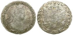 World Coins - Russia. Catherine II the Great (1762-1796) AR 15 Kopeks