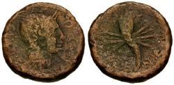 Ancient Coins - F/F Roman Spain Valentia C. Lucienus and C. Munius, magistrates Æ28