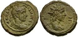 Ancient Coins - Gordian III. Egypt. Alexandria Æ Tetradrachm / Bust of Helios