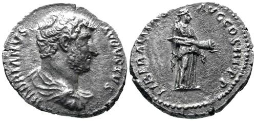 Ancient Coins - aVF/aVF Hadrian AR Fouree? Denarius / Liberalitas