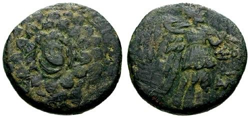 Ancient Coins - gF/gF Pontos Amisos AE20 / Aegis / Nike
