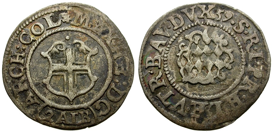 Ancient Coins - Germany.  Cologne, Archbishopric, Maximilian Henry of Bavaria AR 2 Albus