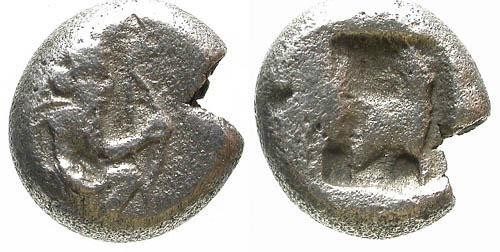 Ancient Coins - VF/VF Achaemenid Coinage of Persia AR 1/3 Siglos of King Darius / Great King