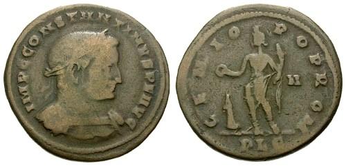Ancient Coins - F/F Constantine I the Great Follis / Genius