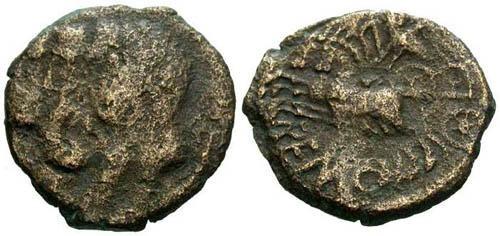Ancient Coins - F/F Remi Tribe Bronze / REMO Biga