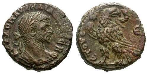 Ancient Coins - VF/VF Aurelian Potin Tetradrachm Alexandria / Eagle