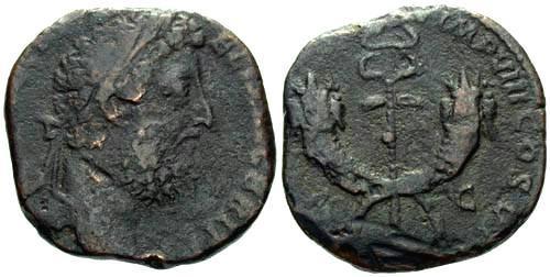 Ancient Coins - F/gF Commodus Dupondius / Double Cornucopiae