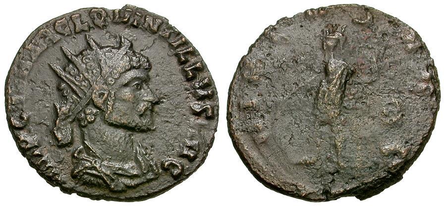 Ancient Coins - Quintillus (AD 270) Æ Antoninianus / Virtus