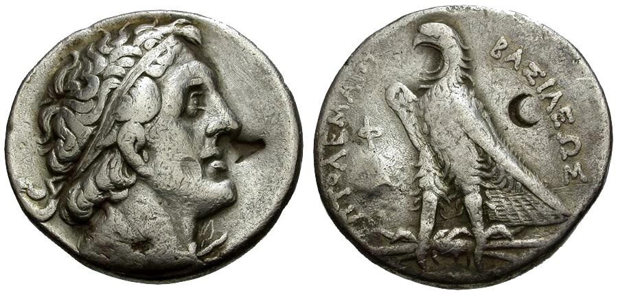 Ancient Coins - Ptolemaic Kings of Egypt, Ptolemy I Soter AR Tetradrachm / Eagle