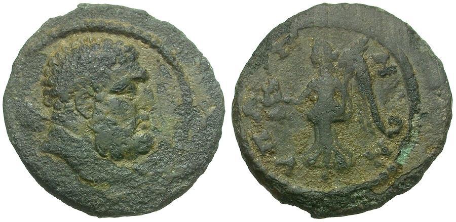 Ancient Coins - Lydia. Hypaepa. Pseudo-Autonomous Issue  Æ18 / Nike