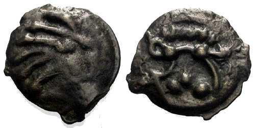 Ancient Coins - aEF/EF Senones Tribe Potin / Boar