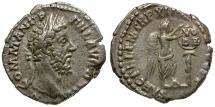 Ancient Coins - Commodus AR Denarius / VO/DE