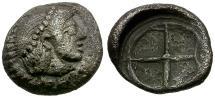Ancient Coins - Sicily. Syracuse AR Litra / Wheel