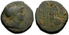 Ancient Coins - aVF/aVF Seleukid Kings of Syria, Seleukos I Nikator Æ21 / Shield and Nike