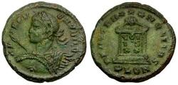 Ancient Coins - EF/EF Crispus Caesar Æ3 / Globe on Altar