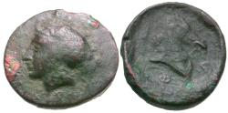 Ancient Coins - Thessaly. Pharsalos Æ13 / Horse's Head