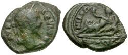 Ancient Coins - Septimius Severus (AD 193-211). Moesia Inferior. Nikopolis ad Istrum Æ17 / River god