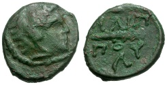 Ancient Coins - Kings of Macedon.  Philip II Æ12 / Herakles and Club