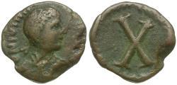 Ancient Coins - *Sear 308A* Byzantine Empire. Justinian I (AD 527-565) Æ Decanummium