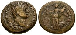 Ancient Coins - Domitian, Judaea, Samaria, Caesarea Maritima, Local Judaea Capta Coinage Æ23 / Nike
