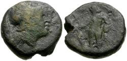 Ancient Coins - Aetolia. Aetolian League Æ16 / Herakles