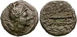 Ancient Coins - Kings of Macedon. Philip V Æ18 / Perseus and Harpa