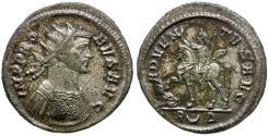 Ancient Coins - Probus (AD 276-282) Silvered Æ Antoninianus / Emperor on Horseback