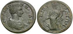 Ancient Coins - Diadumenian Caesar (AD 218). Phrygia. Cibyra Æ26 / Tyche