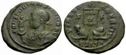 Ancient Coins - VF/VF Constantine II Æ3 / Vexillum and Captives