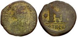 Ancient Coins - *Sear 216* Byzantine Empire. Justinian I Æ Follis