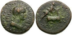 Ancient Coins - Lydia. Hierocaesarea. Pseudo-Autonomous Issue Æ15 / Artemis and Stag