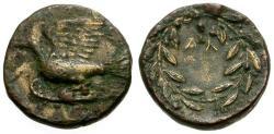 Ancient Coins - aVF/VF Sikyonia, Sikyon Æ16 / Dove